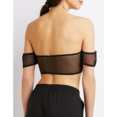Cold Shoulder Lace Bandeau Bra