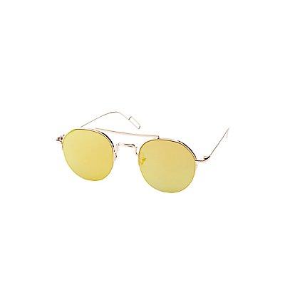 Metal Oversized Frame Sunglasses