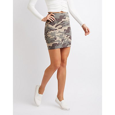 Camo Bodycon skirt