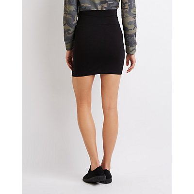 Foldover Mini Skirt