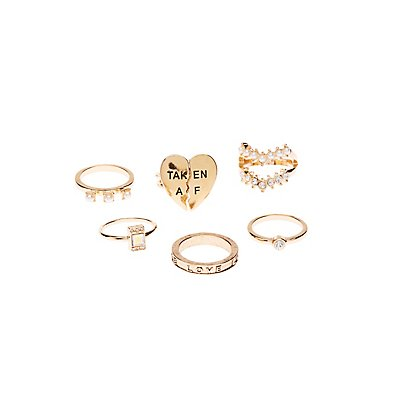 Taken AF Stackable Ring Set