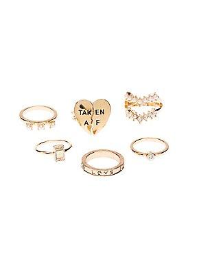 Taken AF Stackable Ring Set