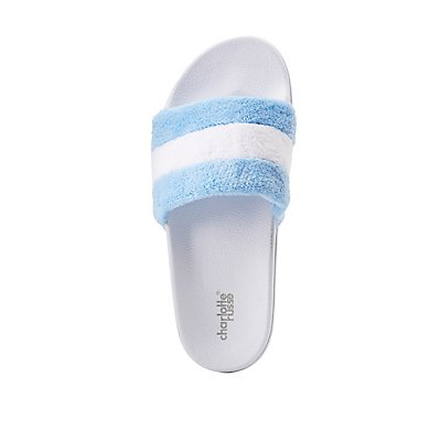 Striped Band Slide Sandals