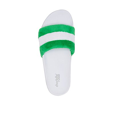 Terry Cloth Slide Sandals