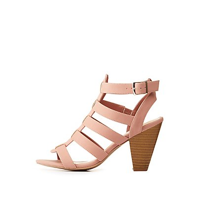 Caged Buckled Open Toe Sandals