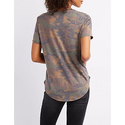 Honey Camo Graphic Tee