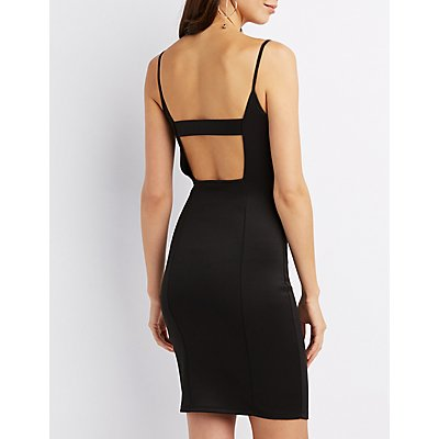 Cut-Out Back Bobycon dress