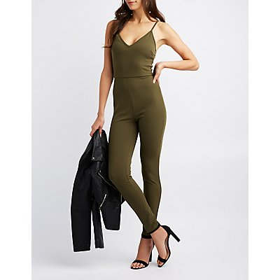 V-Neck Bodycon Jumpsuit