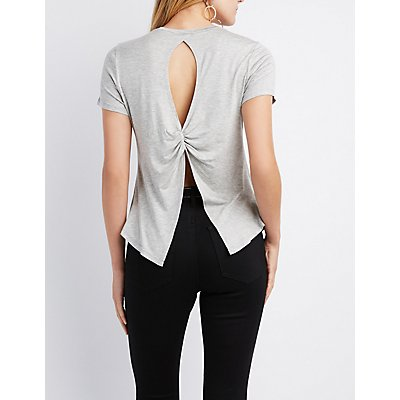 Not Your Honey Open-Back Graphic Tee