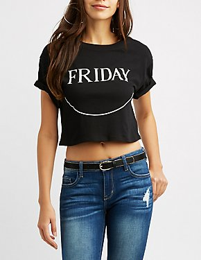 Friday Crop Top Tee