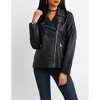 Boyfriend Faux Leather Moto Jacket