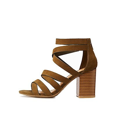 Bamboo Strappy Caged Sandals