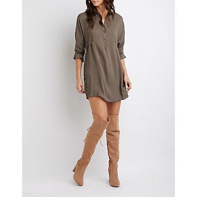 Button-Up Shirt Dress