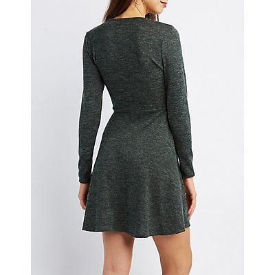 Hacci Knit Skater Dress