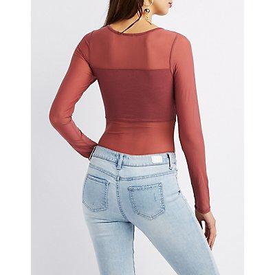 Mesh Long Sleeve Bodysuit