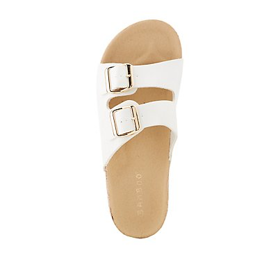 Bamboo Double Strap Buckle-Detailed Slides