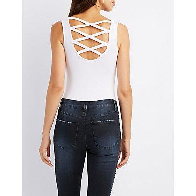 Caged-Back Bodysuit