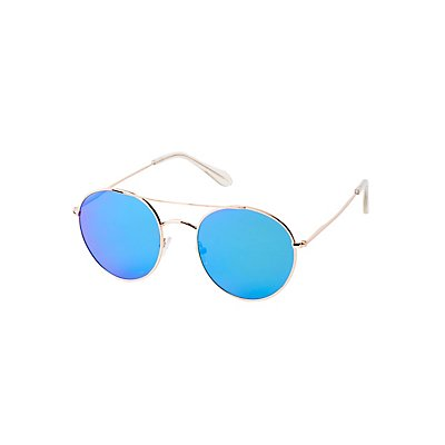 Brow Bar Round Sunglasses at Charlotte Russe in Cypress, TX | Tuggl