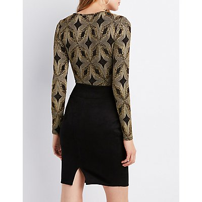 Lurex Caged Bodysuit