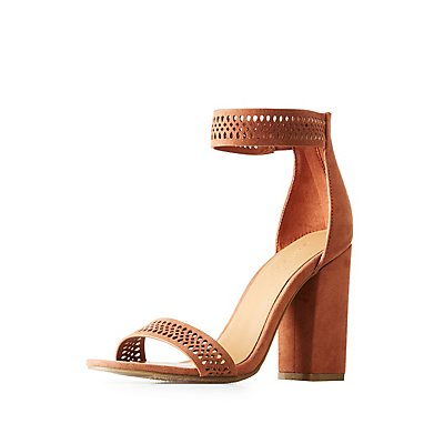 Bamboo Laser Cut Ankle Strap Sandals