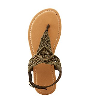 Macrame T-Strap Sandals