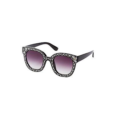 Embellished Square Frame Sunglasses