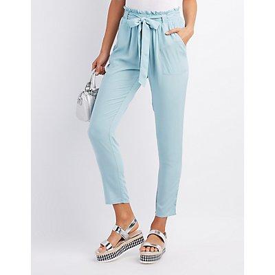 Tie-Front Jogger Pants