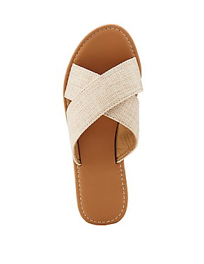 Canvas Slide Sandals