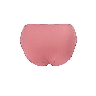 Plus Size Mesh Side Hipster Panties