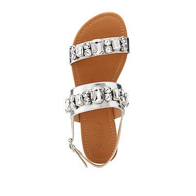 Crystal Flat Sandals
