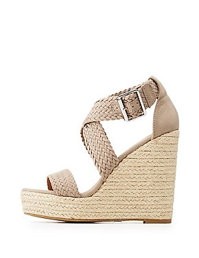 Braided Espadrille Wedge Sandals
