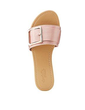 Buckle Slide Sandals