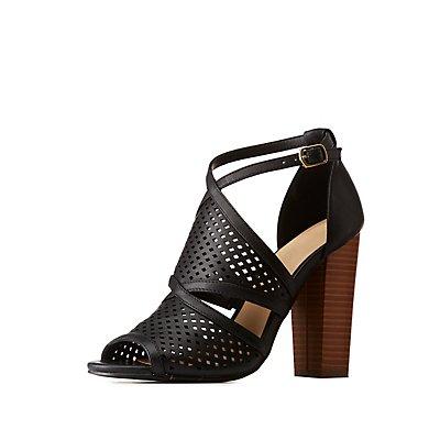 Laser Cut Block Sandals
