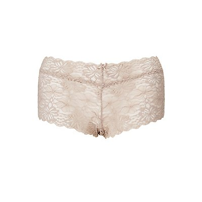 Plus Size Floral Lace Boyshort Panties