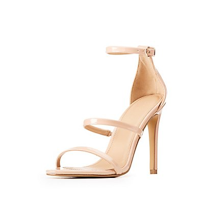 Patent Ankle Strap Dress Sandals