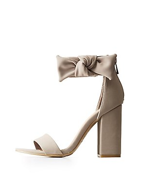 Bamboo Bow Ankle Strap Sandals