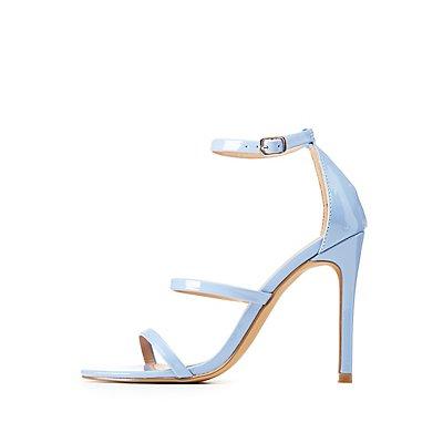 Patent Ankle Strap Dress Sandals