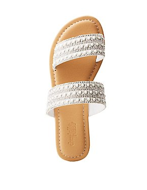 Embellished Slide Sandals
