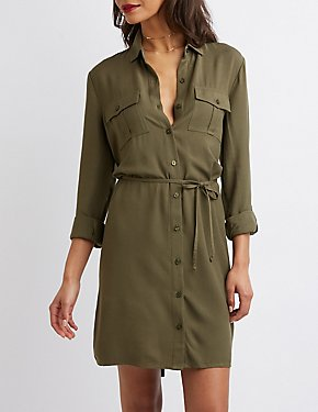 Button-Up Shirt Dress
