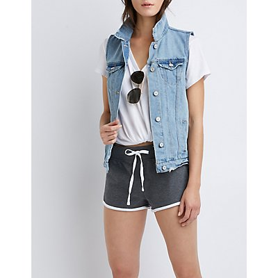 Refuge Classic Denim Vest by Charlotte Russe