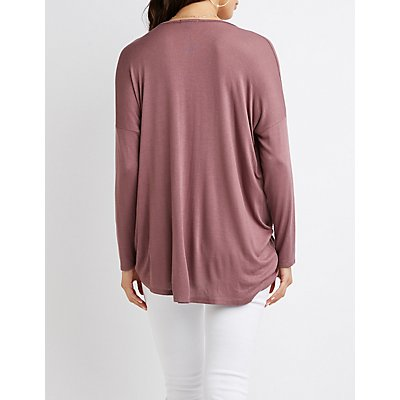 Wrapped Tunic-Length Top
