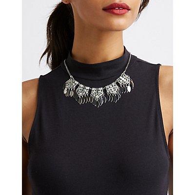Crystal Fringe Bib Necklace