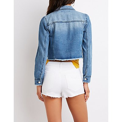 Refuge Crop Denim Jacket