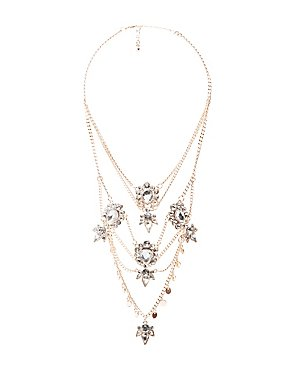 Crystal Multi-Layered Chain Necklace