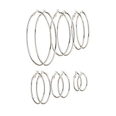 Cascade Hoop Earrings - 6 Pack