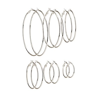 Cascade Hoop Earrings - 6 Pack