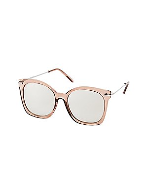 Mirrored Oversize Sunglasses
