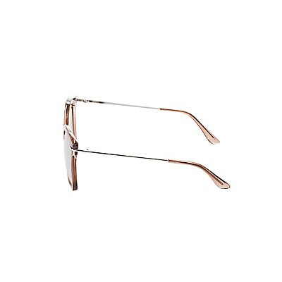 Mirrored Oversize Sunglasses