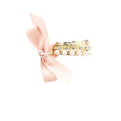 Embellished Bangle Bracelets - 6 Pack
