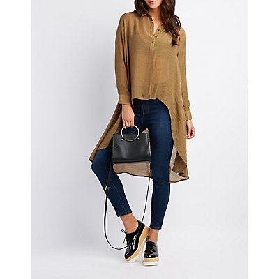 High-Low Tunic Blouse